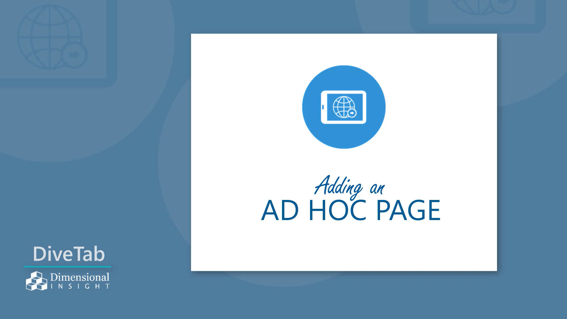 Adding an Ad Hoc Page